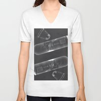 vodka V-neck T-shirts featuring Vodka Visions by Andrea Jean Clausen - andreajeanco