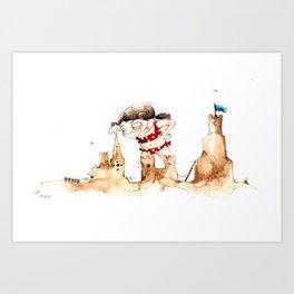 Sandcastleday Art Print