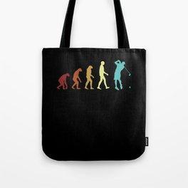 Golf Evolution Retro Golfer Player Development Cool Tote Bag