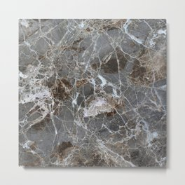 Marble Stone Vintage Marble lover Gift Metal Print