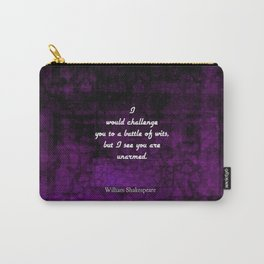 Funny Shakespeare Insult Elizabethan Quotation Carry-All Pouch