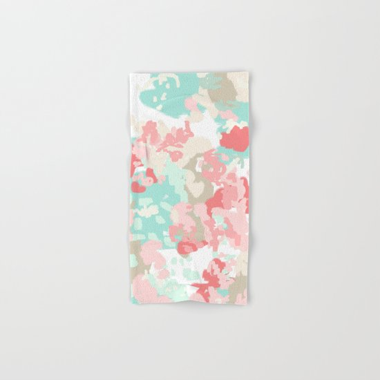 Branch - abstract minimal modern art office home decor dorm gender neutral bright happy painting Hand & Bath Towel