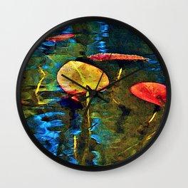 Lilypad Abstract Wall Clock