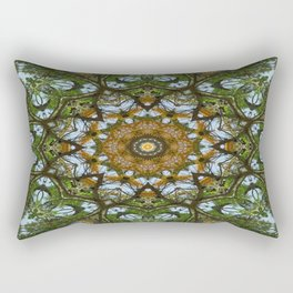Yellow Tree Flower Kaleidoscope Art 5 Rectangular Pillow