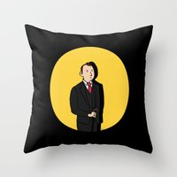 tintin Throw Pillows featuring Tintin style Mycroft by thediogenes