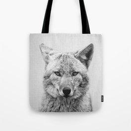 Coyote - Black & White Tote Bag