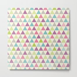 Colorful triangle pattern. Metal Print