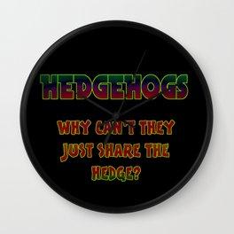 "Funny One-Liner ""Hedgehog"" Joke Wall Clock"