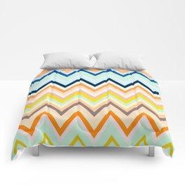 Colorful chevron Comforters