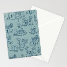Zombie Toile Stationery Cards