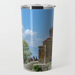 St.Jovan Kaneo,Ohrid,Macedonia Travel Mug