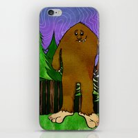 sasquatch iPhone & iPod Skins featuring Sasquatch by Michael Scott Murphy