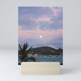 Moon Rising Over the Caribbean Mini Art Print