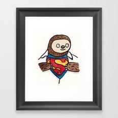 Super Sloth Framed Art Print