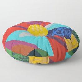 French Horn Floor Pillow