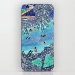 Midnight jungle pool iPhone Skin