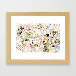 Mosaic of Barcelona XIX Framed Art Print
