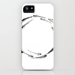 Fishes enso iPhone Case