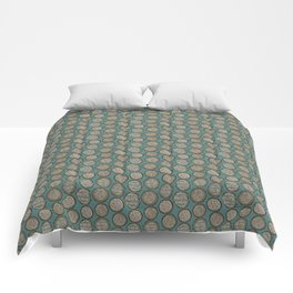 Woodcutter Log Pile Blue Comforters