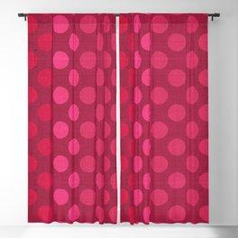 """Rose fuchsia Burlap Texture & Polka Dots"" Blackout Curtain"