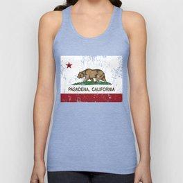 Pasadena California Republic Flag Distressed Unisex Tank Top
