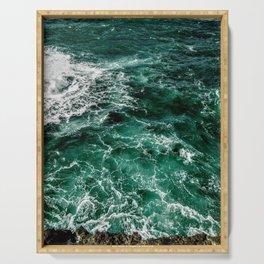 Ocean waves Serving Tray