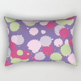 Blot ultra violet seamless pattern. Vector illustration Rectangular Pillow