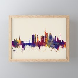 Frankfurt Germany Skyline Framed Mini Art Print