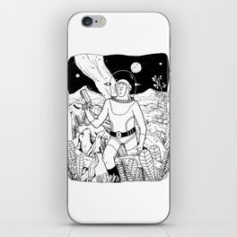 the space cowboy iPhone Skin