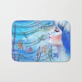 Aqua Girl Bath Mat