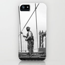 Painting the Brooklyn Bridge iPhone Case