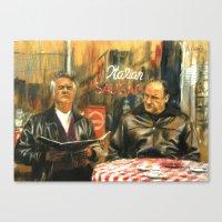 sopranos Canvas Prints featuring The Sopranos by Miquel Cazanya