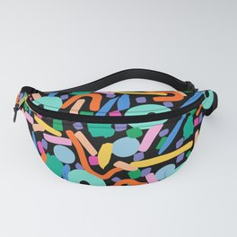 CIRCLES IN MOTION - colourful Fanny Pack