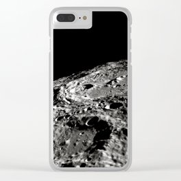 Moon Surface Crater Clear iPhone Case