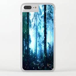 Fireflies Night Forest Clear iPhone Case