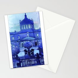 Plaza Tapatia w dome of the Instituto Cultural de Cabanas in distance Guadalajara Mexico Stationery Cards