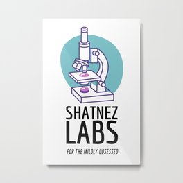 Shatnez Labs - For the Mildly Obsessed   Jewish Humor Metal Print