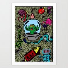 Aliens in Space Art Print