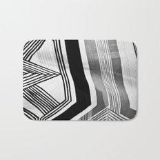 Modern Zebra Abstract Bath Mat