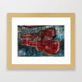 the guitar case story Framed Art Print