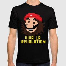 viva la revolution Mens Fitted Tee Black MEDIUM