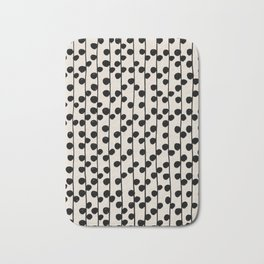 Dots / Black & White Pattern Bath Mat