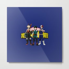 My Hero Academia Deku, Bakugou and Todoroki Metal Print
