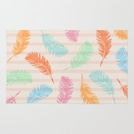 Dancing summer feathers Rug
