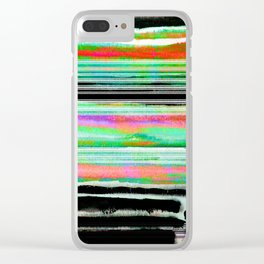 colorful abstract painting Clear iPhone Case