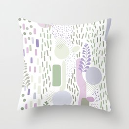 Close to Nature - Simple Doodle Pattern 1 #handdrawn #pattern #nature Throw Pillow
