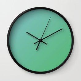 Green Emerald gradient color Wall Clock
