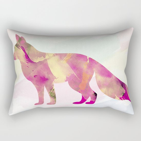 Abstract Fox Rectangular Pillow