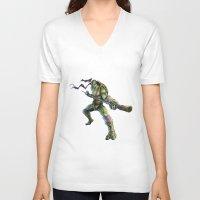 ninja turtles V-neck T-shirts featuring Ninja Turtles: Donatello  by Michele Giorgi