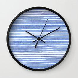 Sailing watercolor pattern Wall Clock